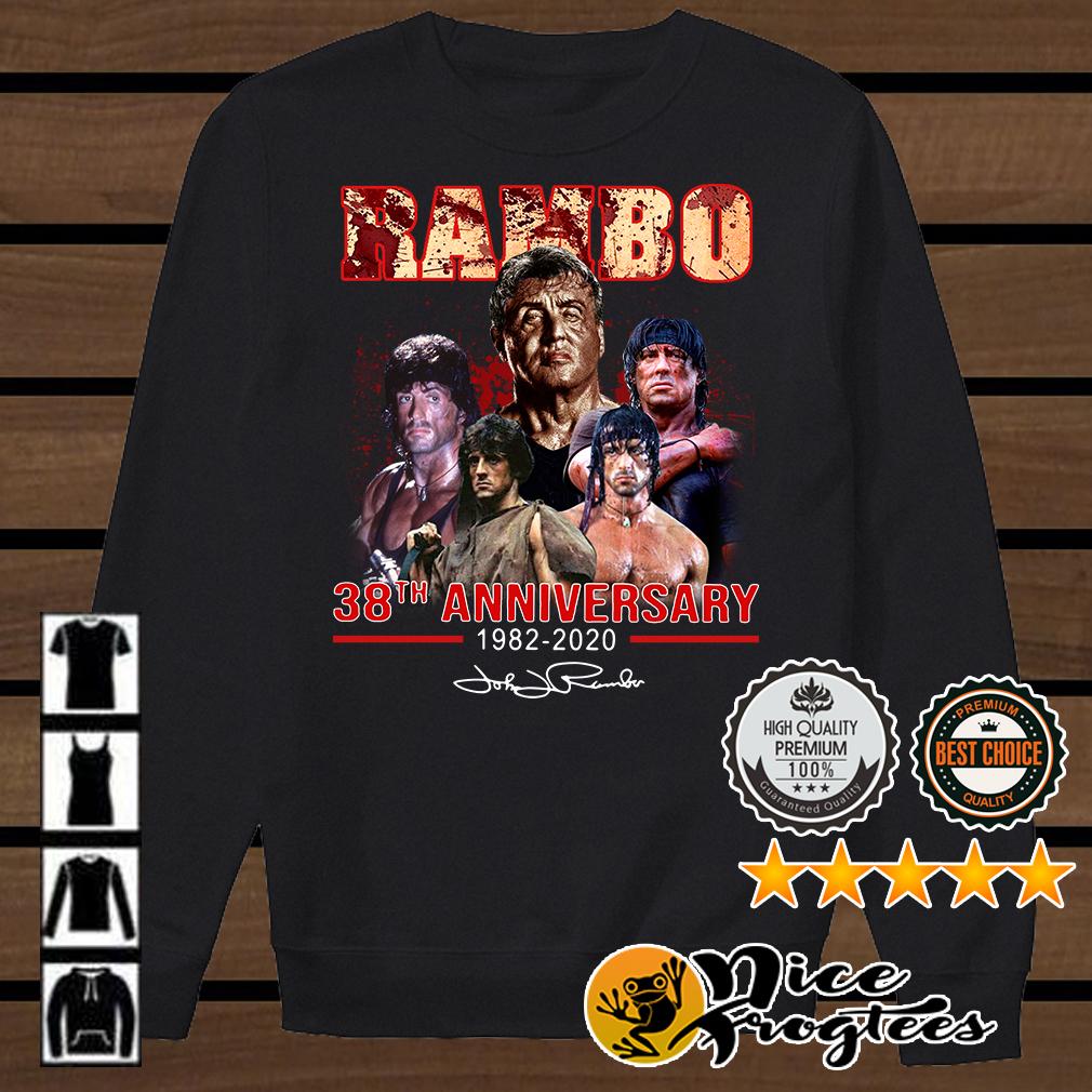 Rambo 48th Anniversary 1982-2020 signatures shirt