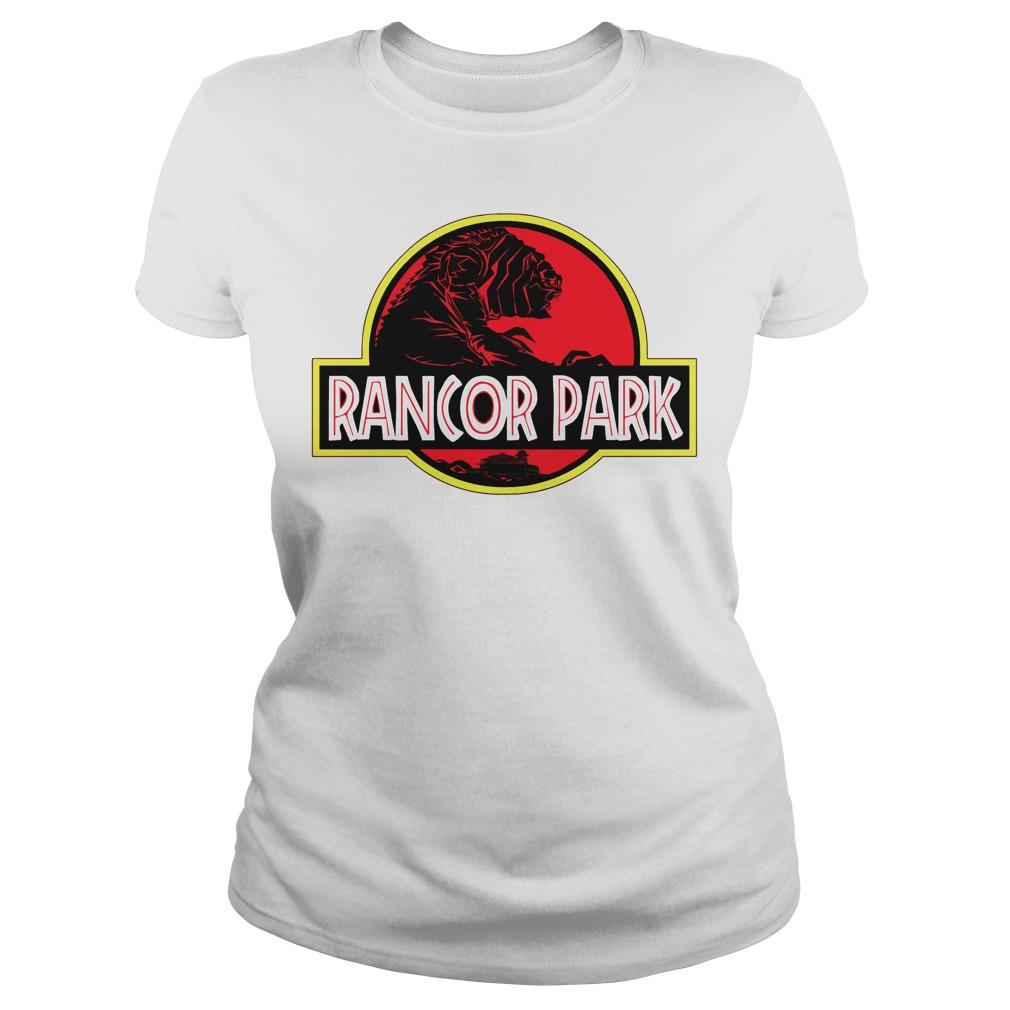 Rancor Park Jurassic Park vs Star Wars Mashup Ladies tee