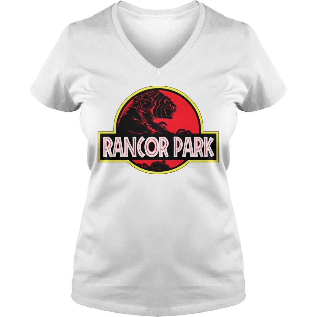 Rancor Park Jurassic Park vs Star Wars Mashup V-neck t-shirt