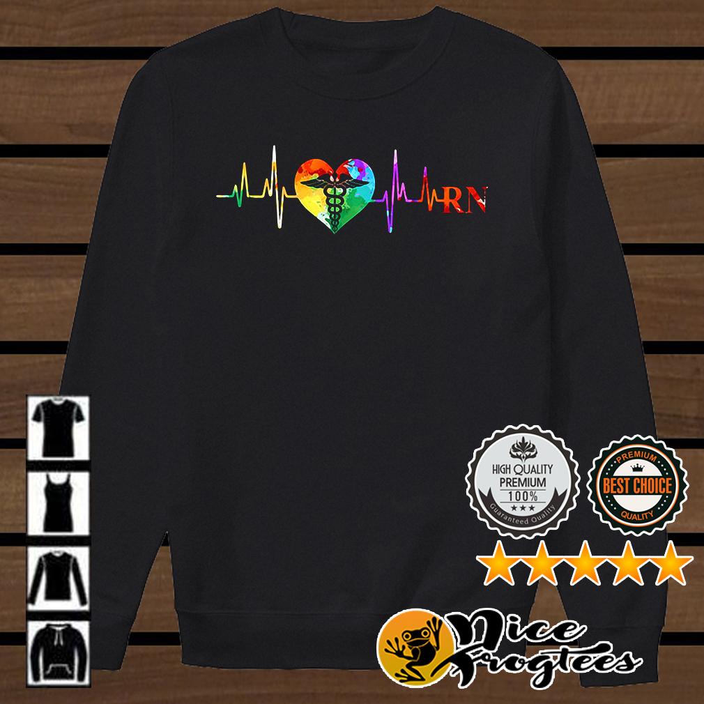 Registered Nurse heart beat shirt