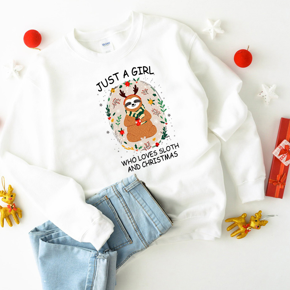 Reindeer Just a girl who loves sloth and Christmas sweater