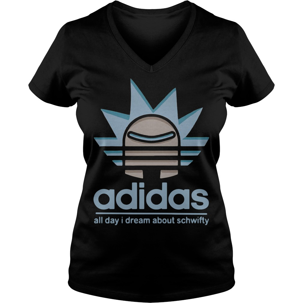 Rick Adidas all day I dream about schwifty V-neck T-shirt