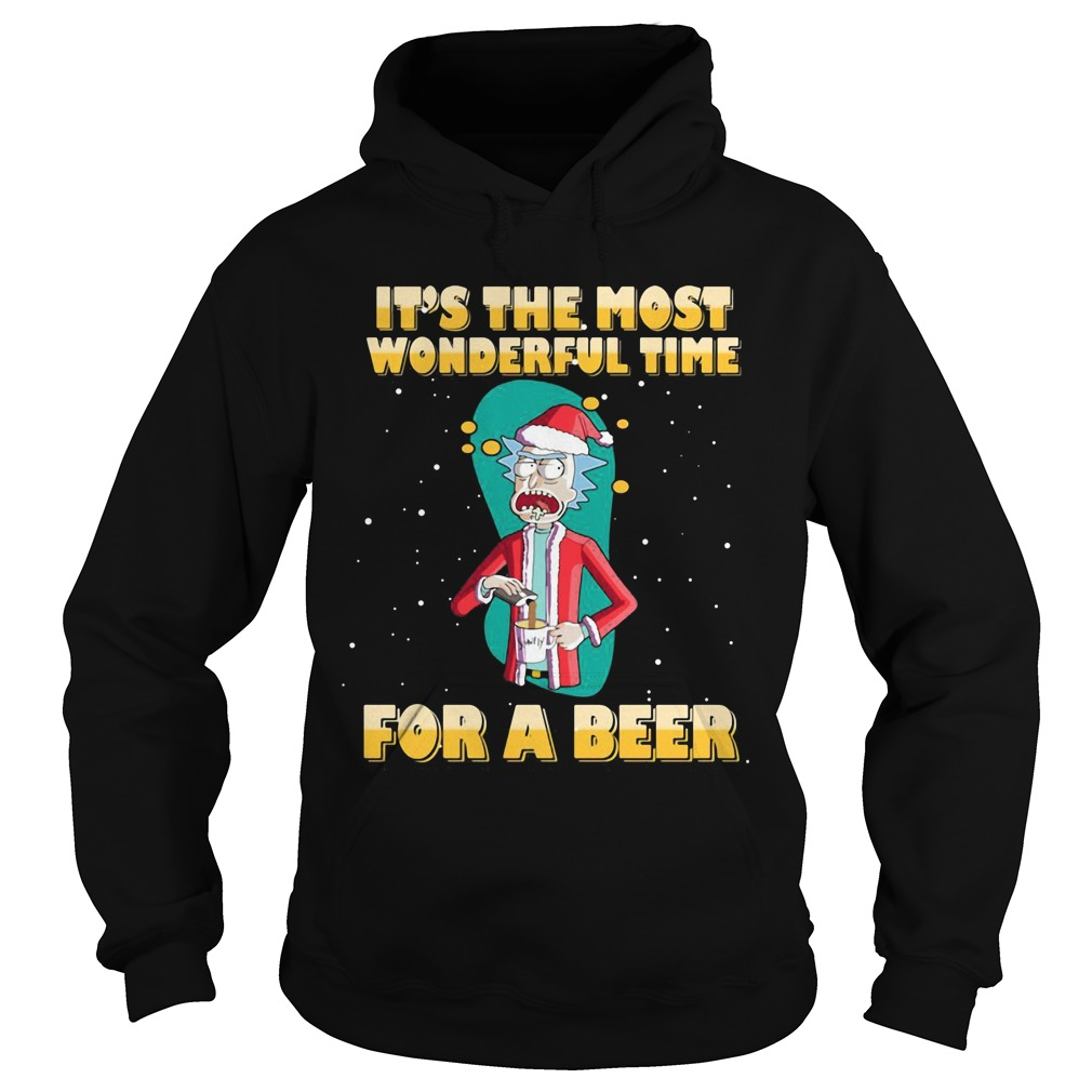 Rick and Morty It's the most wonderful time for a beer Hoodie