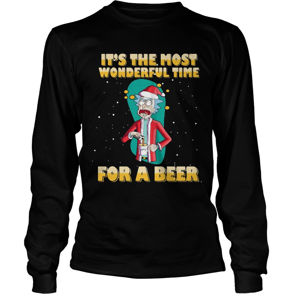Rick and Morty It's the most wonderful time for a beer Longsleeve tee