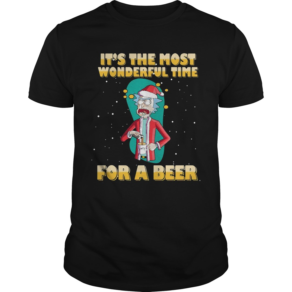 Rick and Morty It's the most wonderful time for a beer shirt