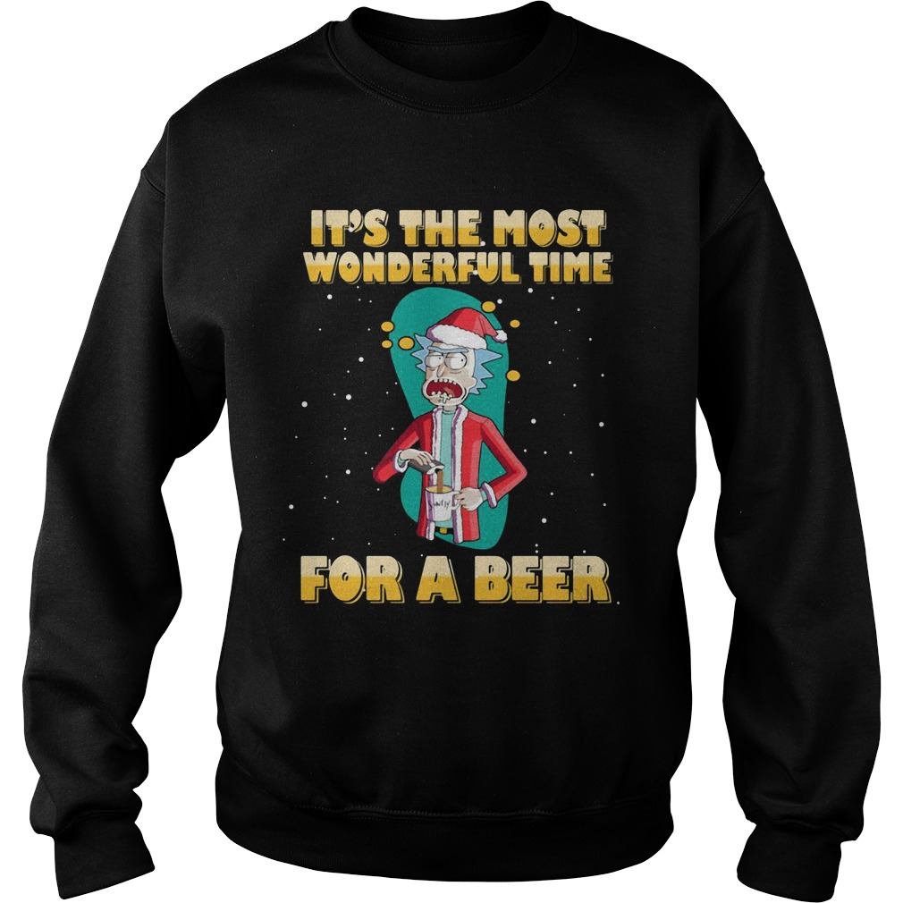 Rick and Morty It's the most wonderful time for a beer sweater