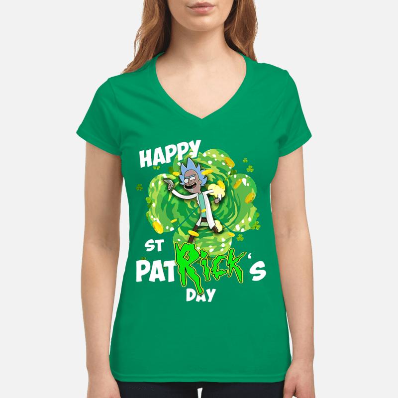 Rick Gimmie happy St Patrick's Day V-neck t-shirt
