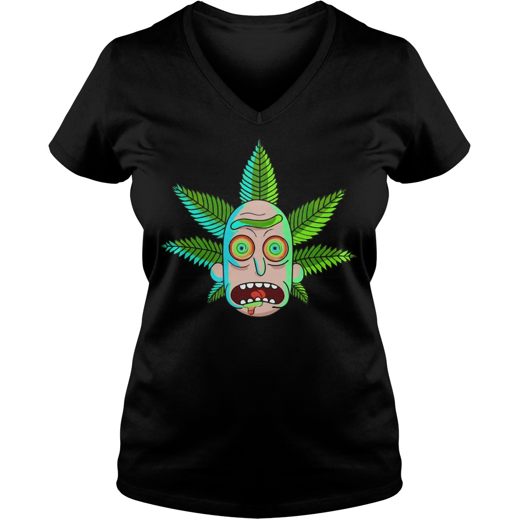 Rick and Morty Cannabis V-neck t-shirt