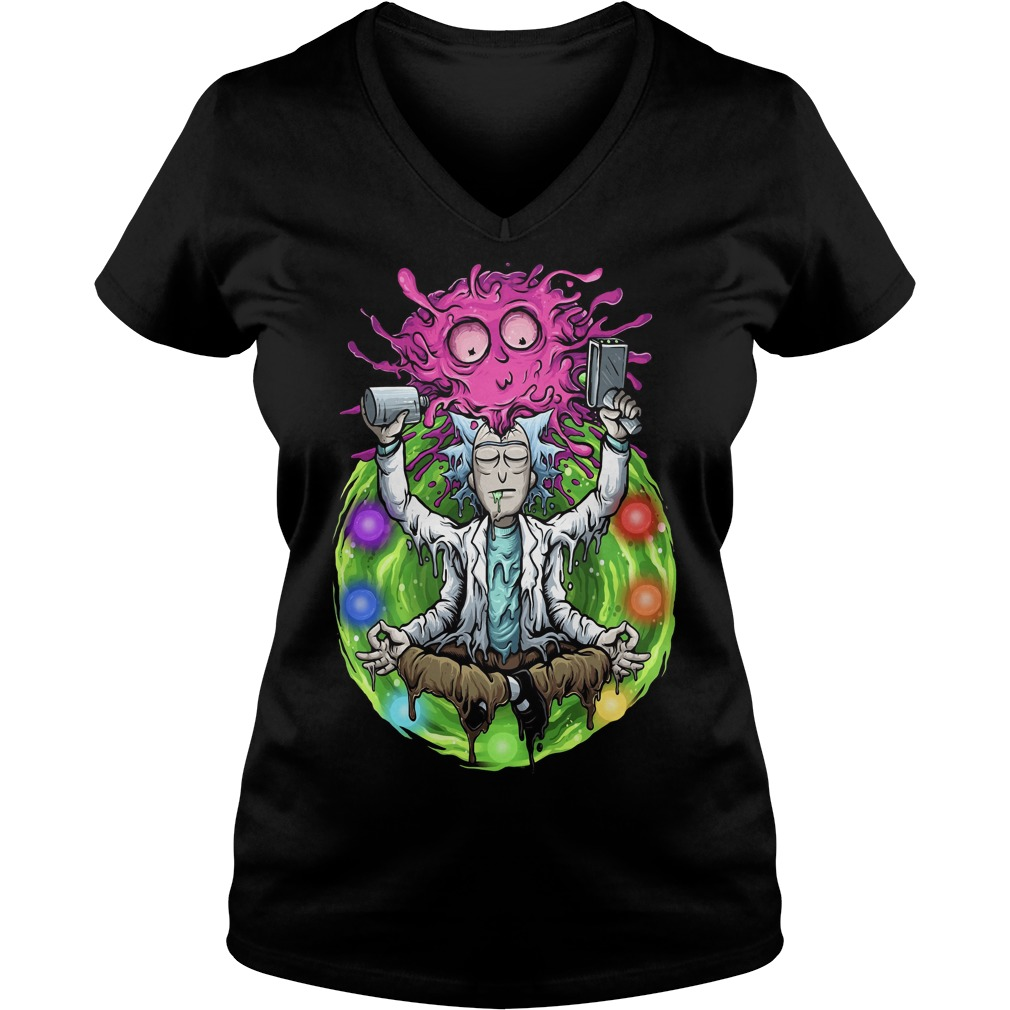 Rick And Morty Meditating V-neck t-shirt