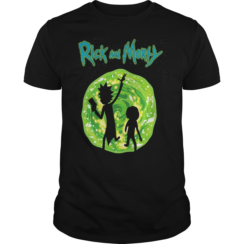 Rick and Morty - Portal Silhouette T-shirt