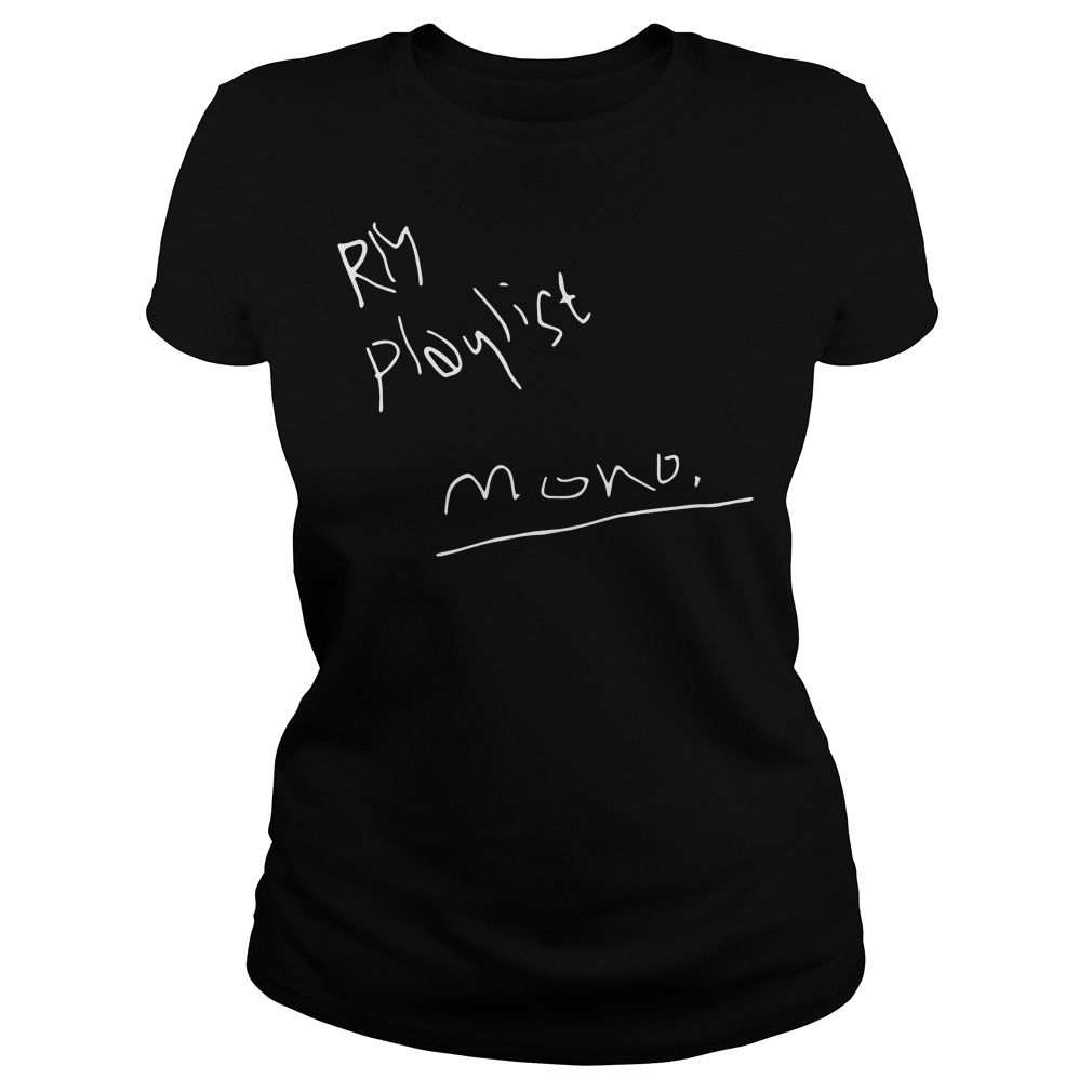 RM playlist mono Ladies tee