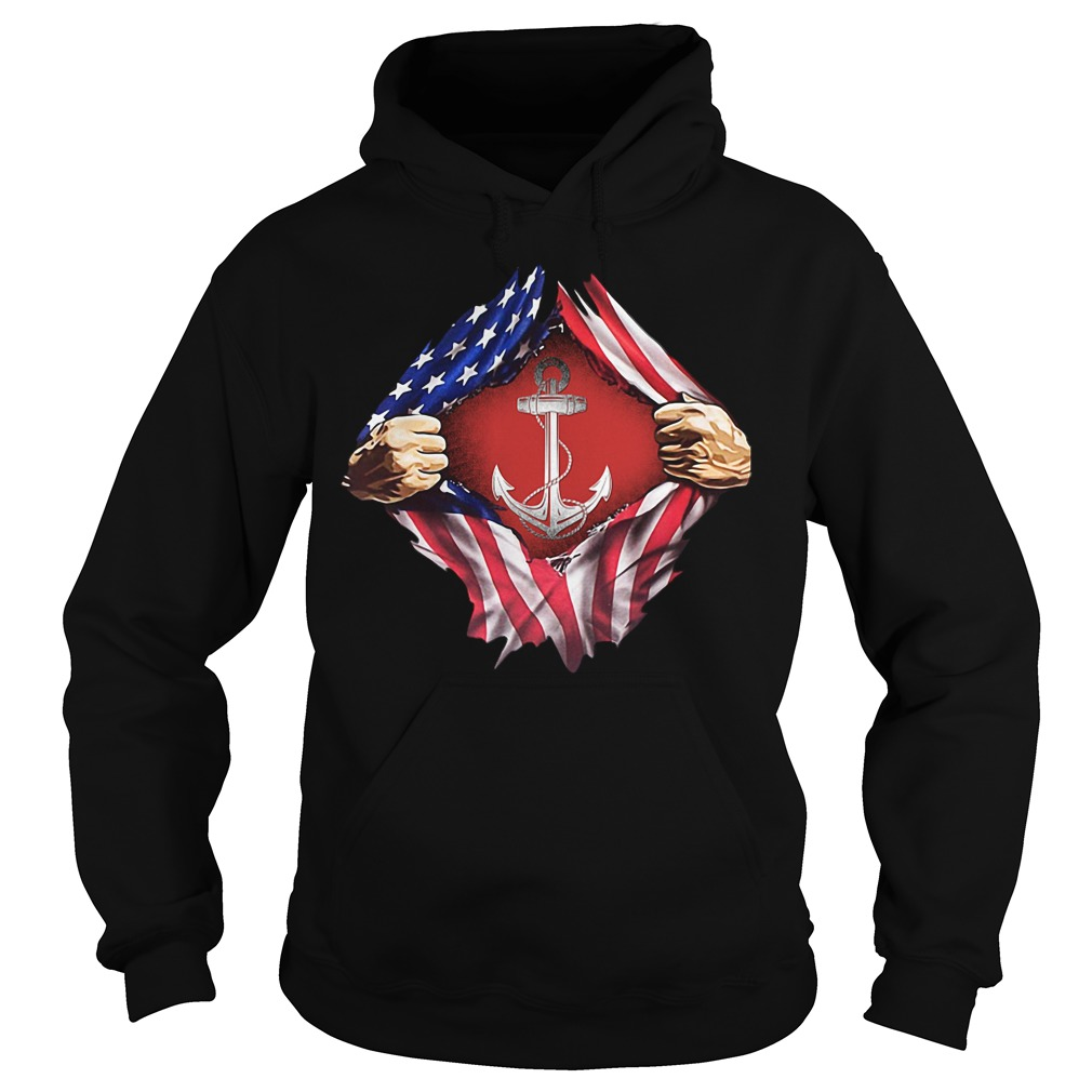 Sailor inside me US flag Independence day 4th of July Hoodie