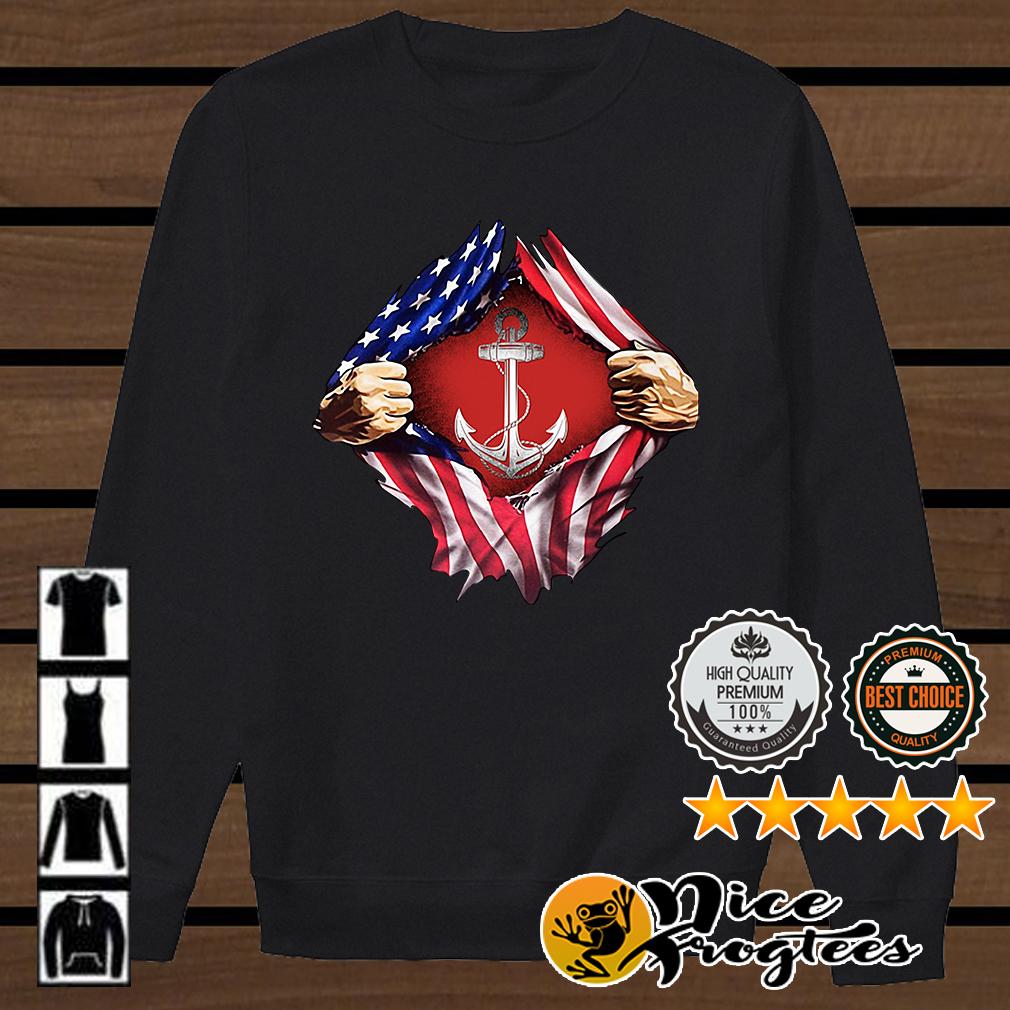 Sailor inside me US flag Independence day 4th of July shirt