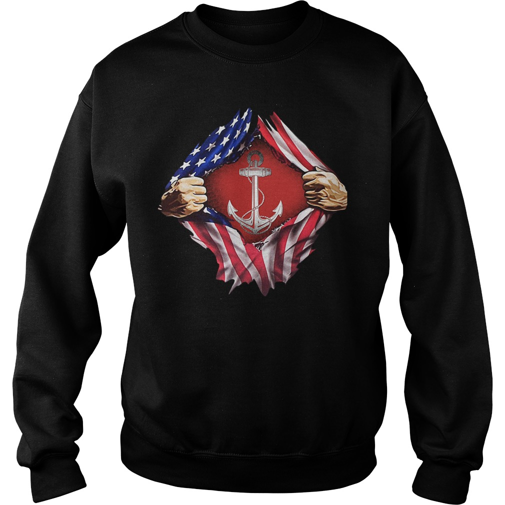 Sailor inside me US flag Independence day 4th of July Sweater