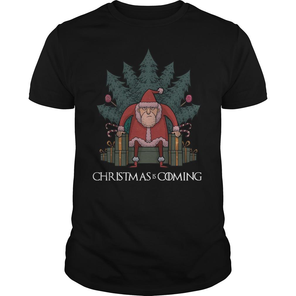 Santa Of Thrones - Christmas is coming Guys shirt