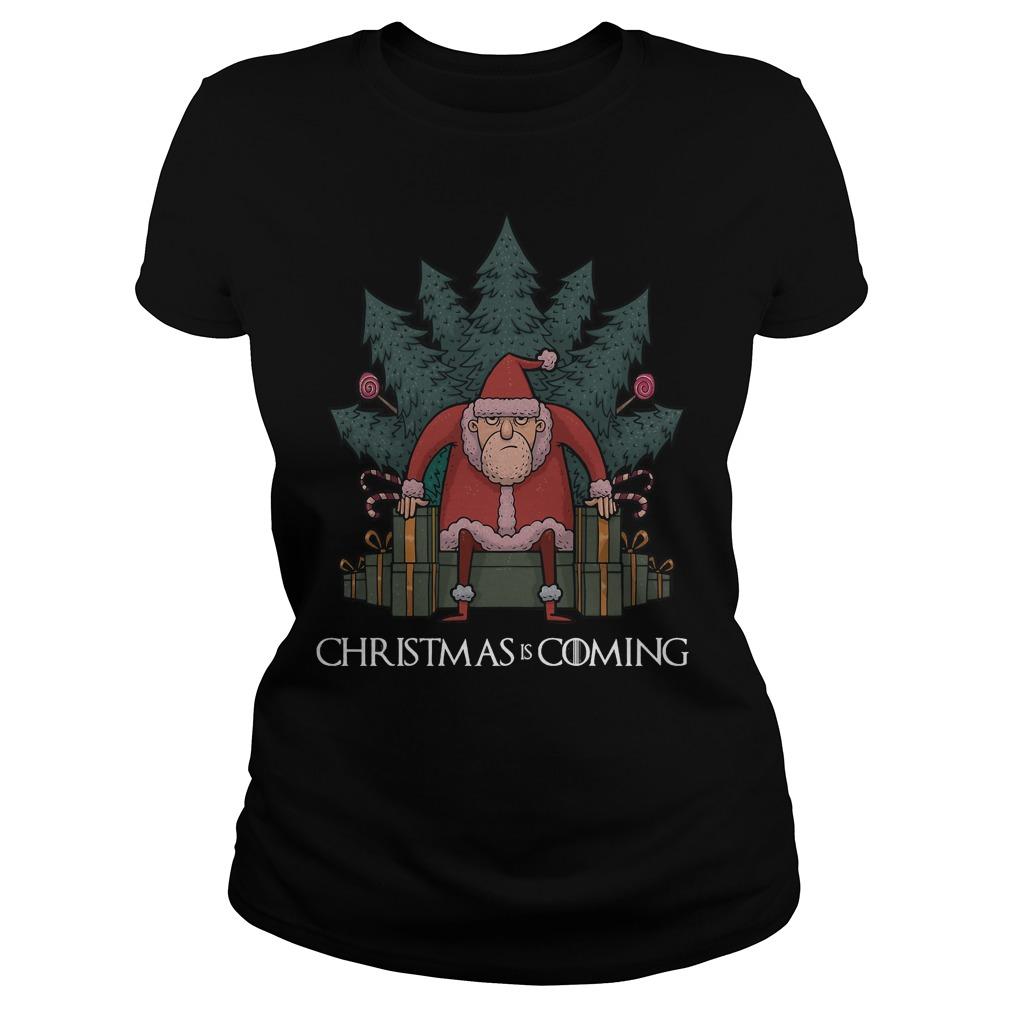 Santa Of Thrones - Christmas is coming Ladies tee