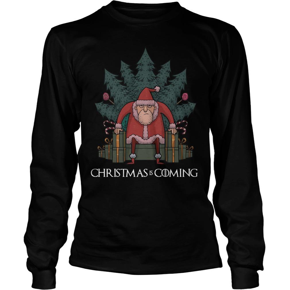Santa Of Thrones - Christmas is coming Longsleeve tee