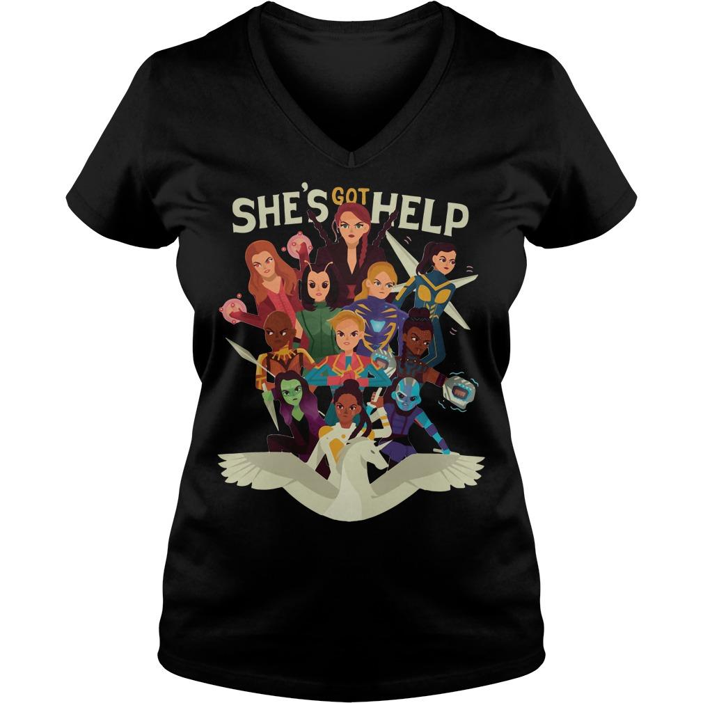 She's got help Women of Marvel V-neck t-shirt