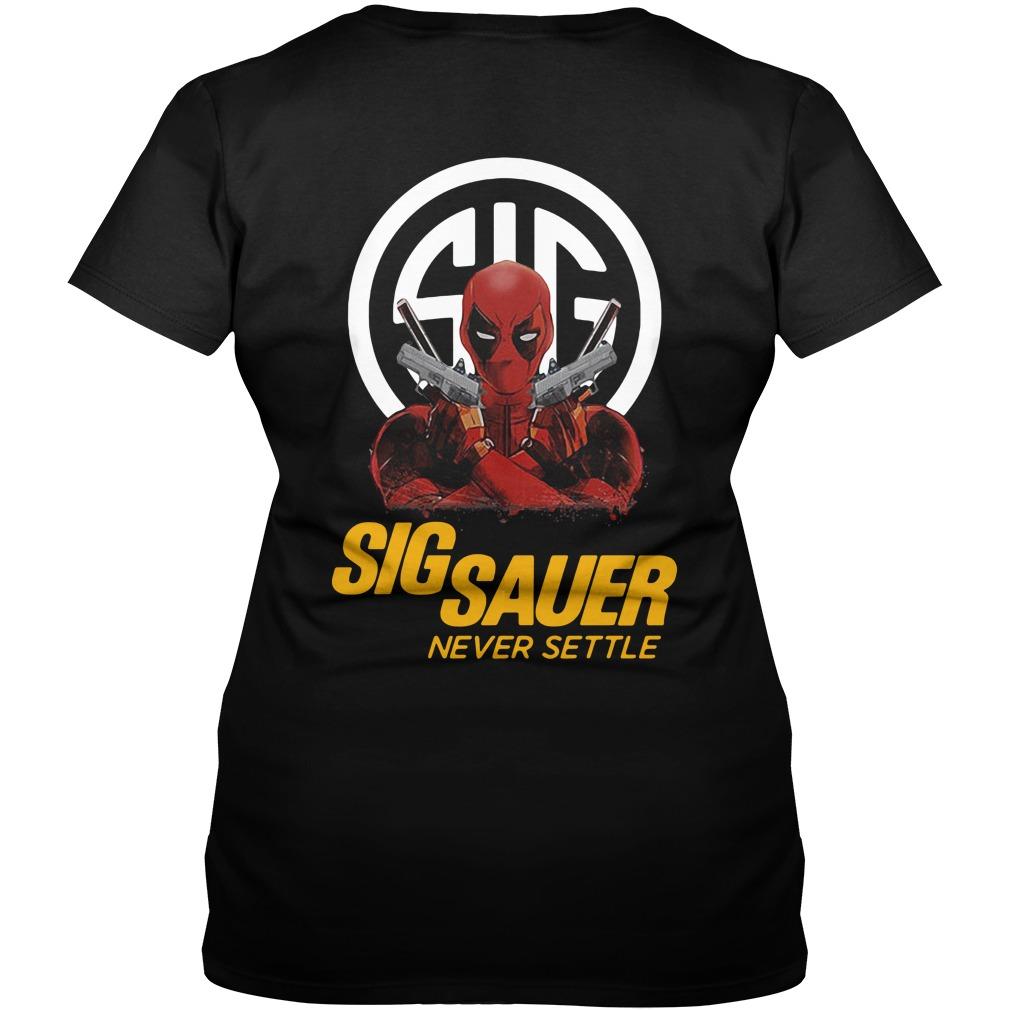 Deadpool Sigsauer never settle V-neck T-shirt
