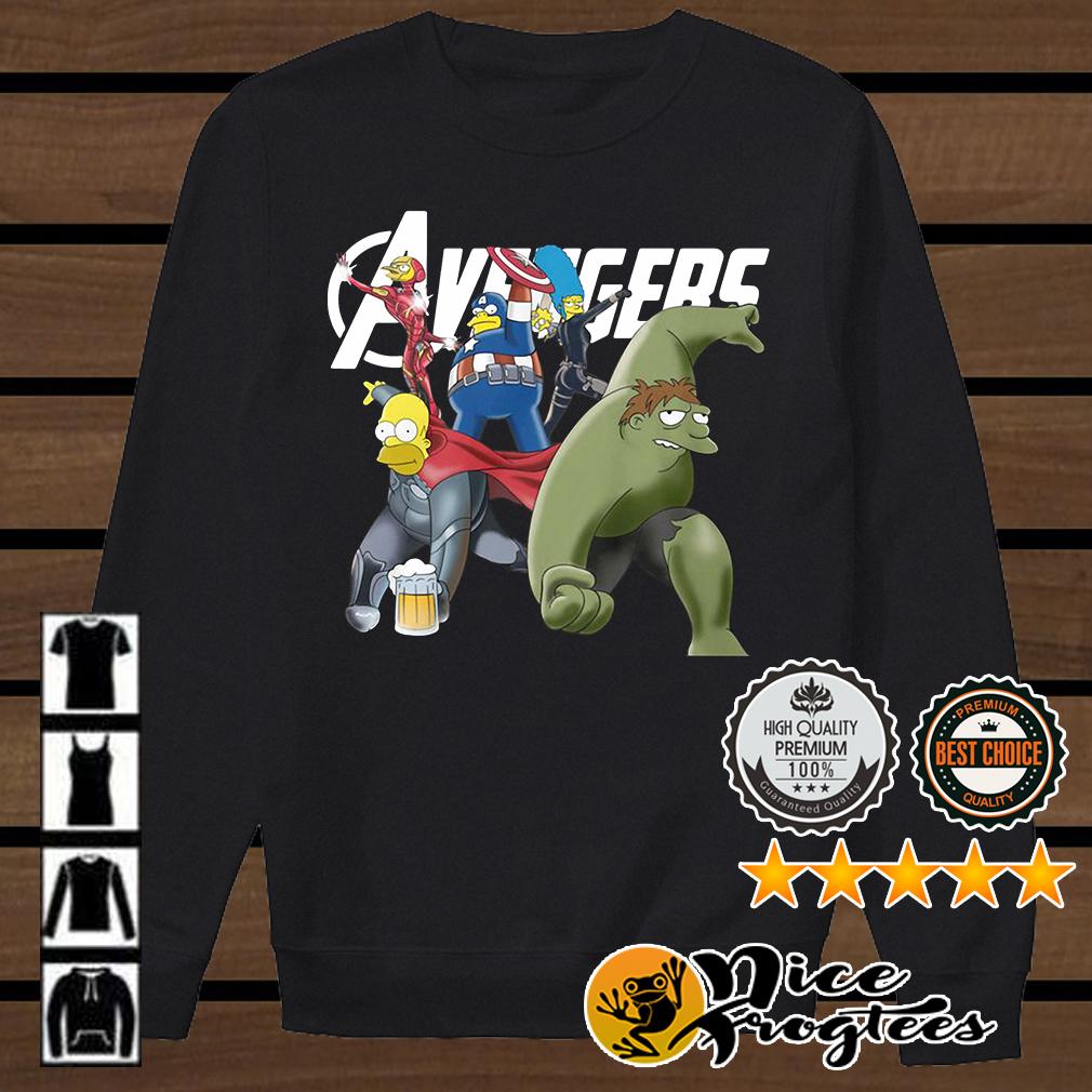 The Simpsons Marvel Avengers Endgame shirt
