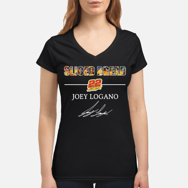 Sliced Bread 22 Joey Logano V-neck t-shirt