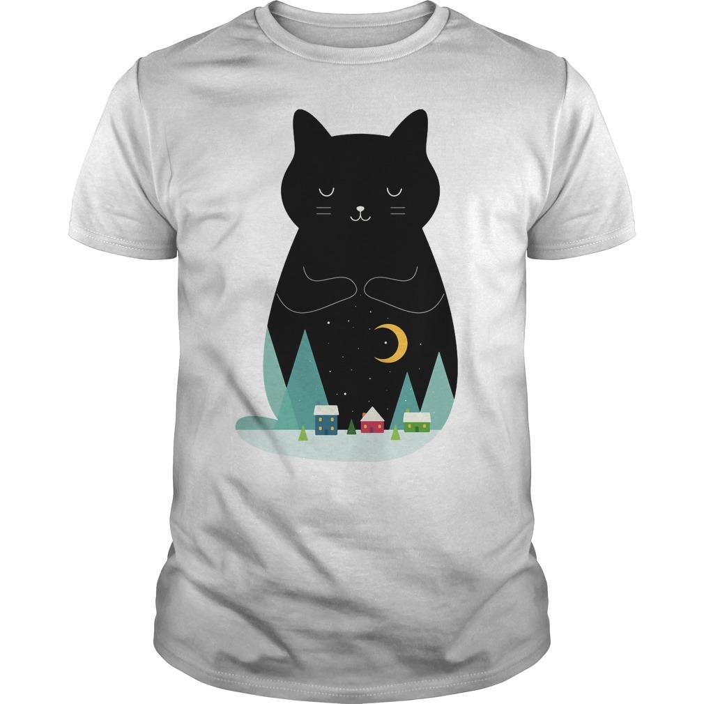 Slient night Cat shirt