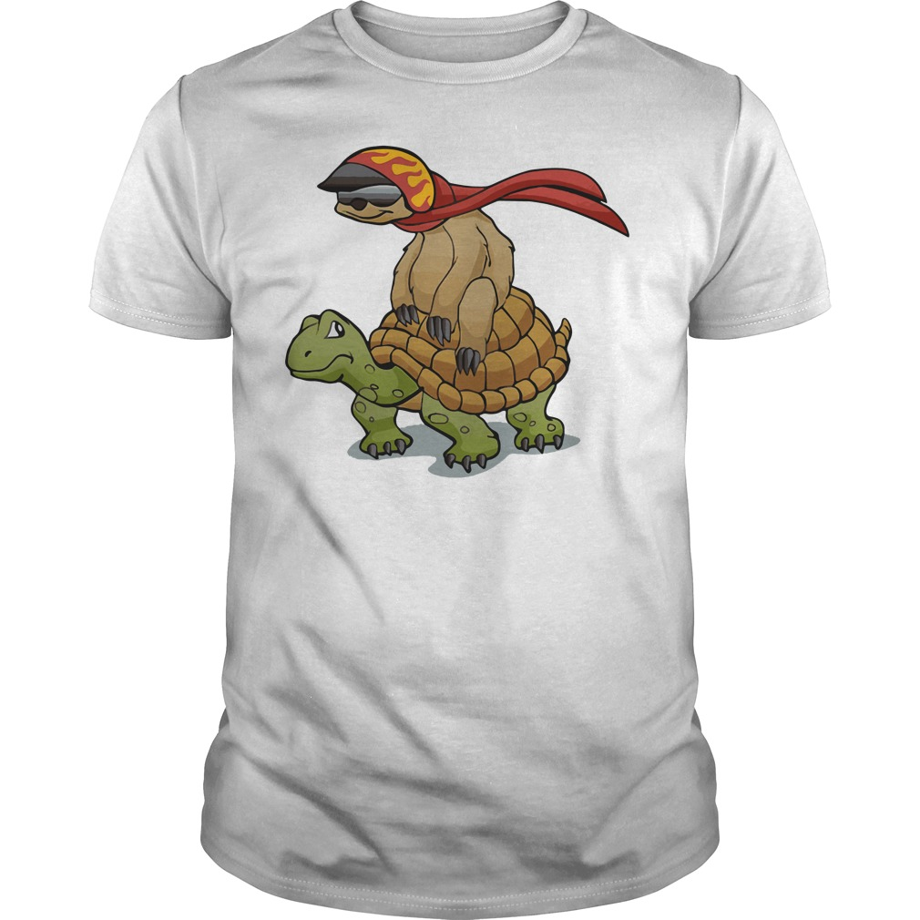 Official sloth riding a turtle shirt hoodie sweater and for Turtle t shirts online