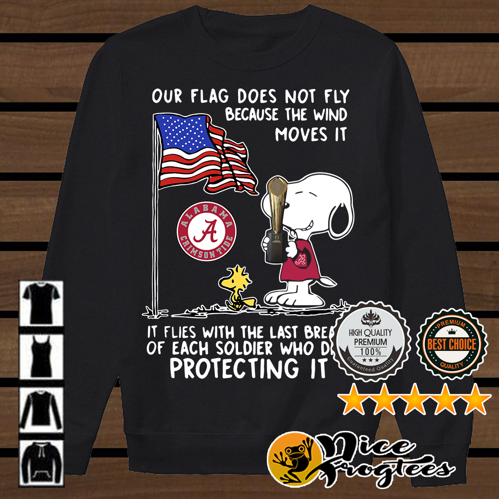 Snoopy and Woodstock Alabama Crimson Tide our flag does not fly shirt