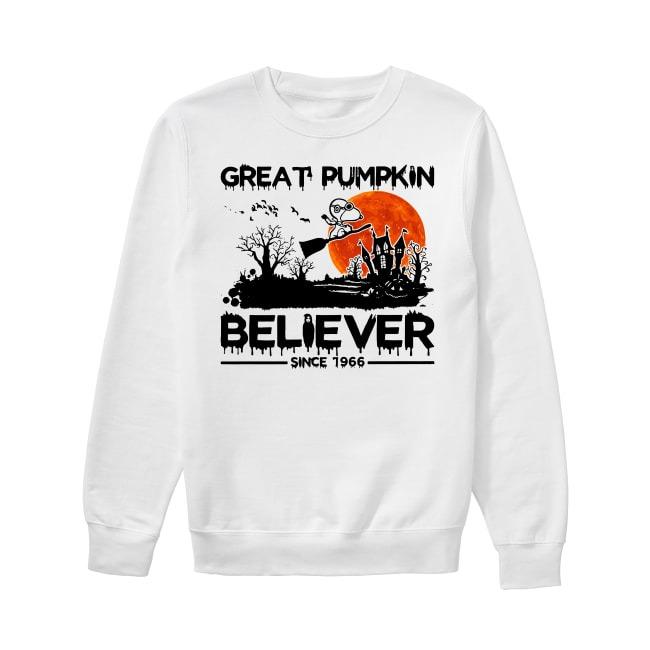Snoopy great pumpkin believer since 1966 Halloween Sweater