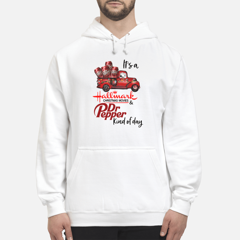 Snoopy It's a Hallmark Christmas movies and Dr Pepper kind of day Hoodie