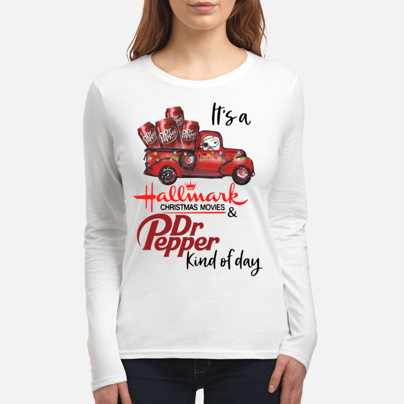Snoopy It's a Hallmark Christmas movies and Dr Pepper kind of day Longsleeve tee