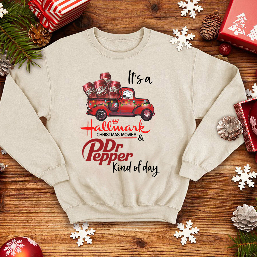 Snoopy It's a Hallmark Christmas movies and Dr Pepper kind of day sweater