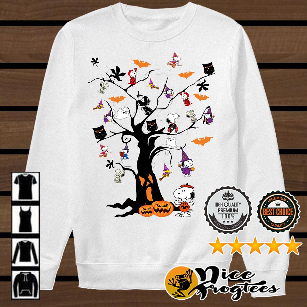 Snoopy Halloween tree shirt