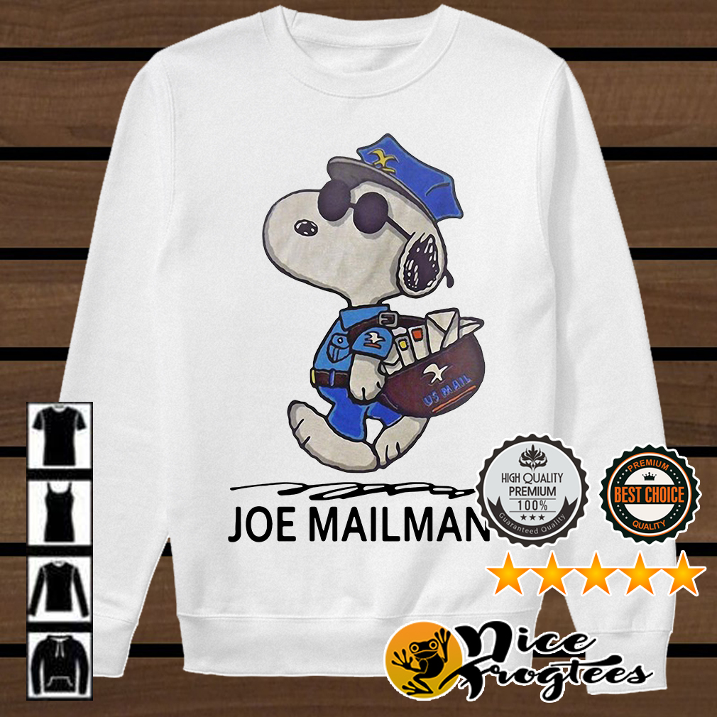 Snoopy Joe mailman shirt