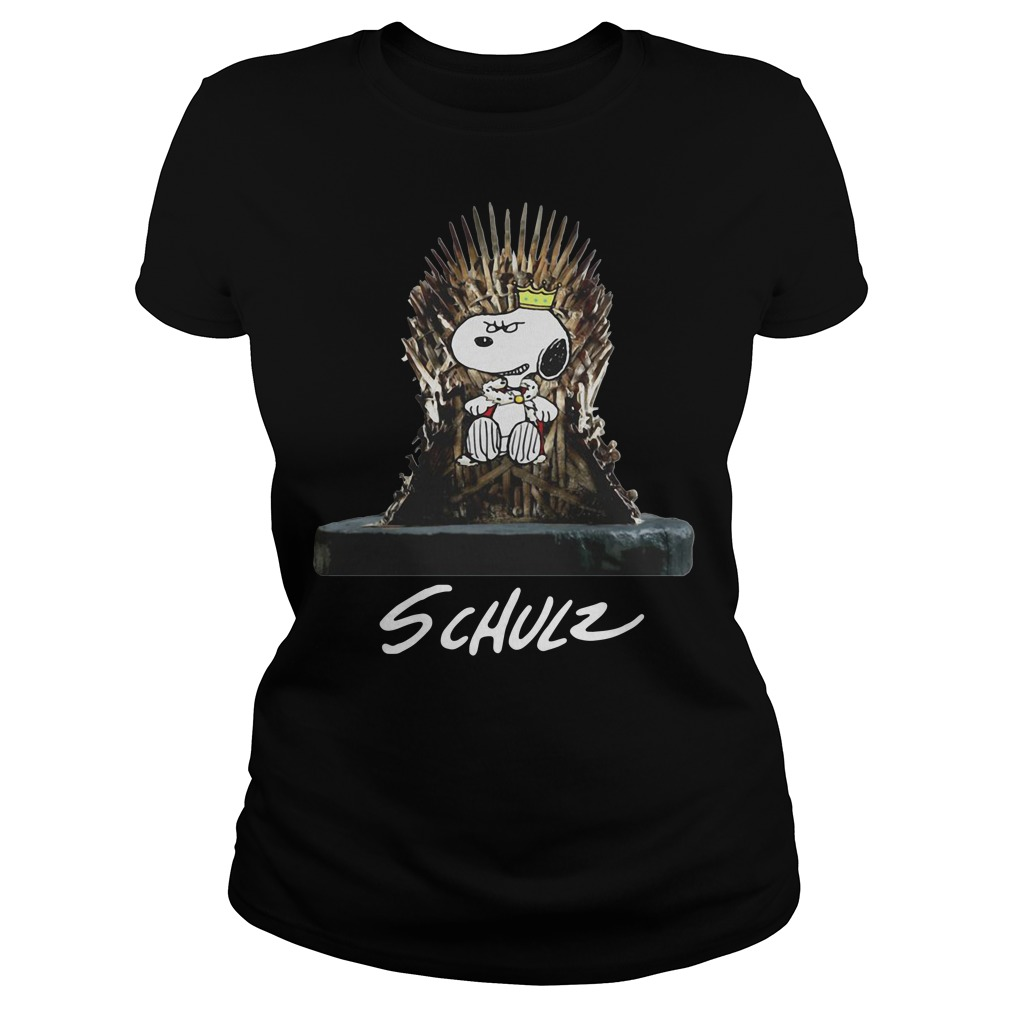 Snoopy King Schulz Game of Thrones Ladies tee