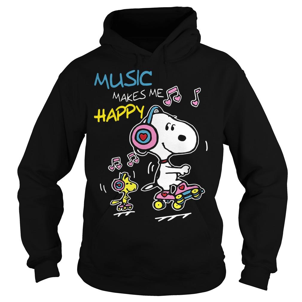 Snoopy music makes me happy Hoodie