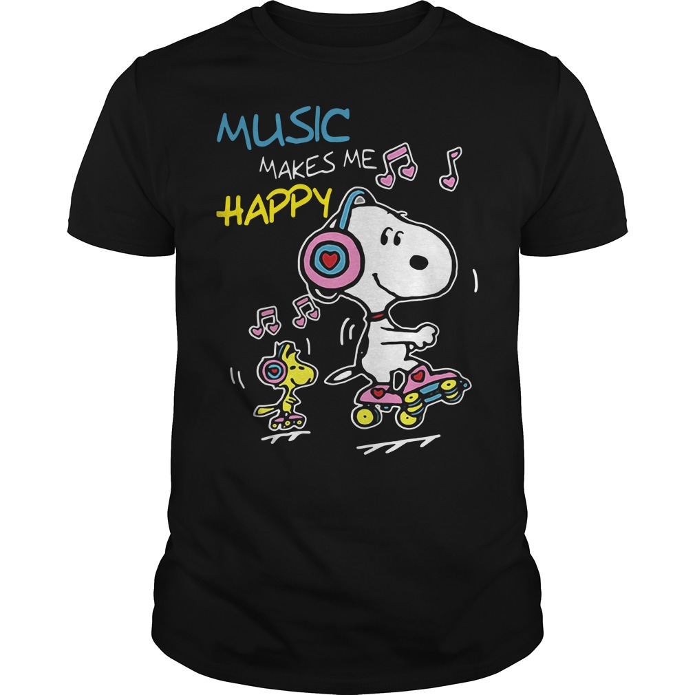 Snoopy music makes me happy shirt