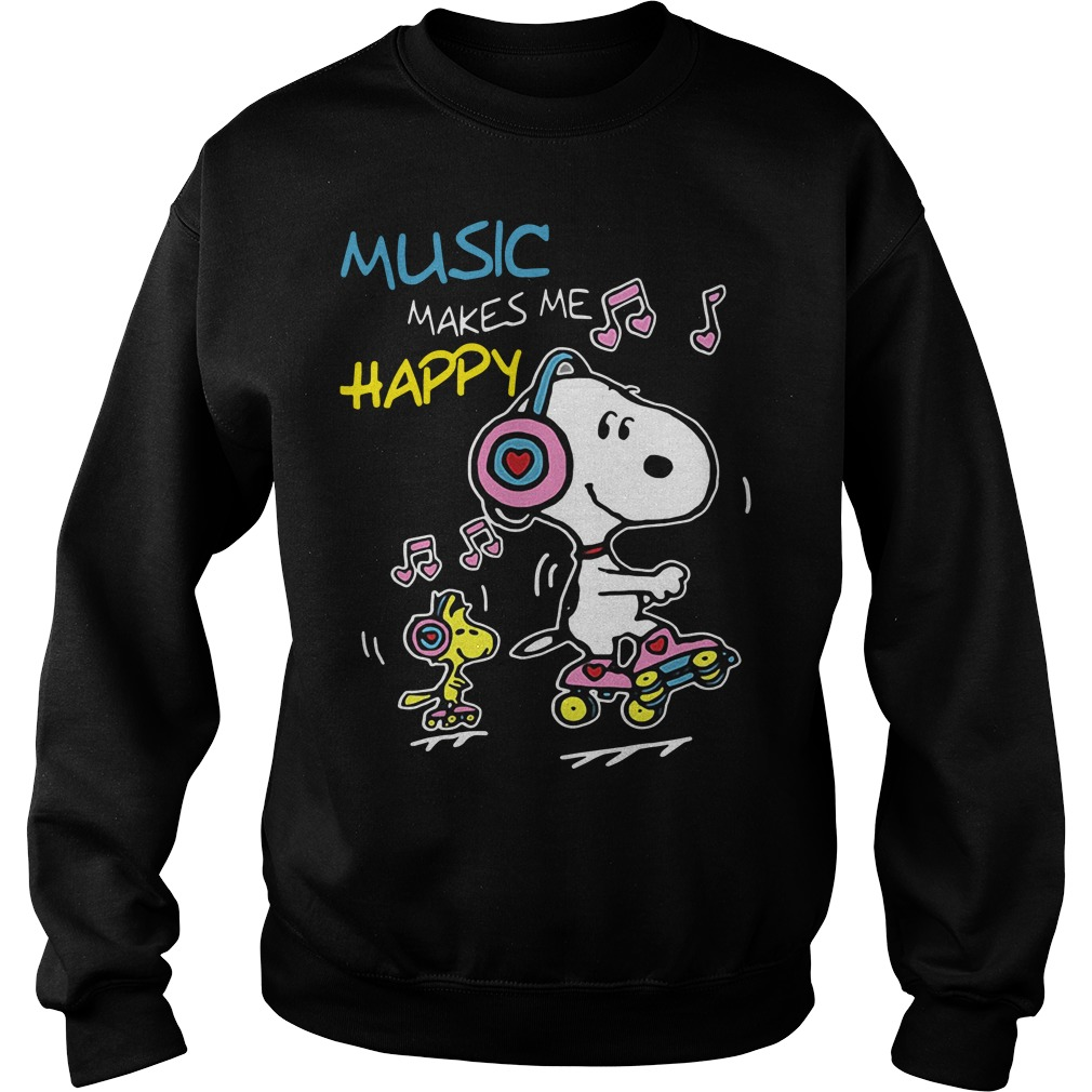 Snoopy music makes me happy Sweater