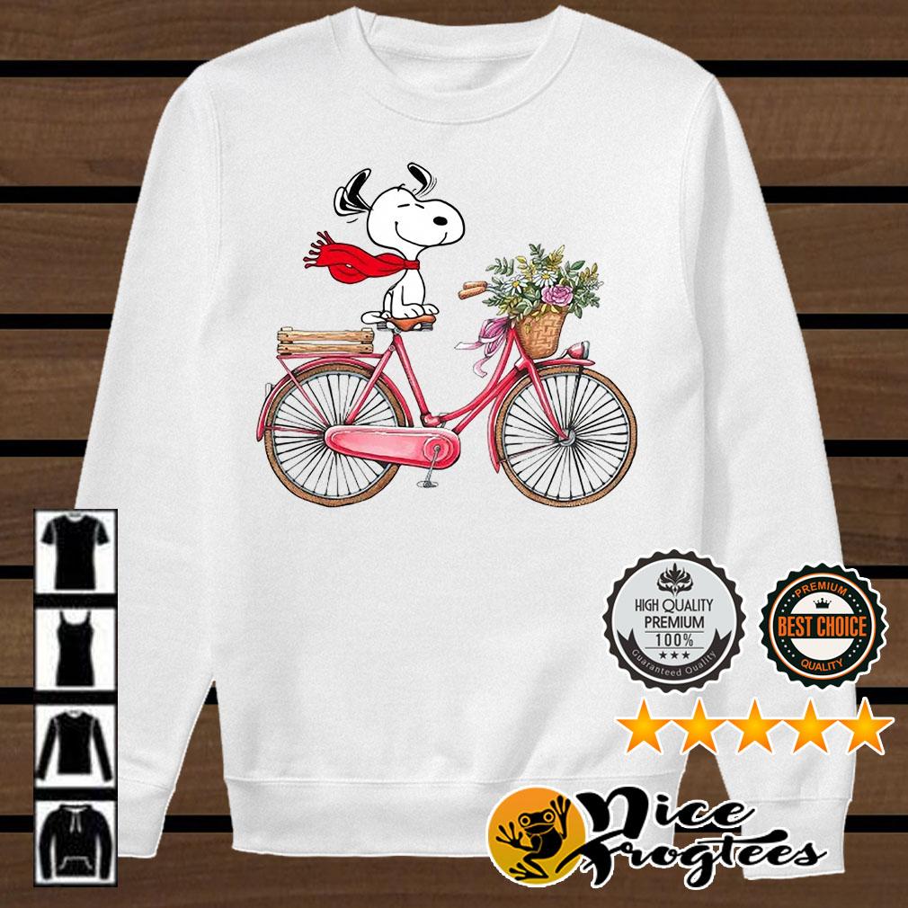 Snoopy riding bicycle shirt