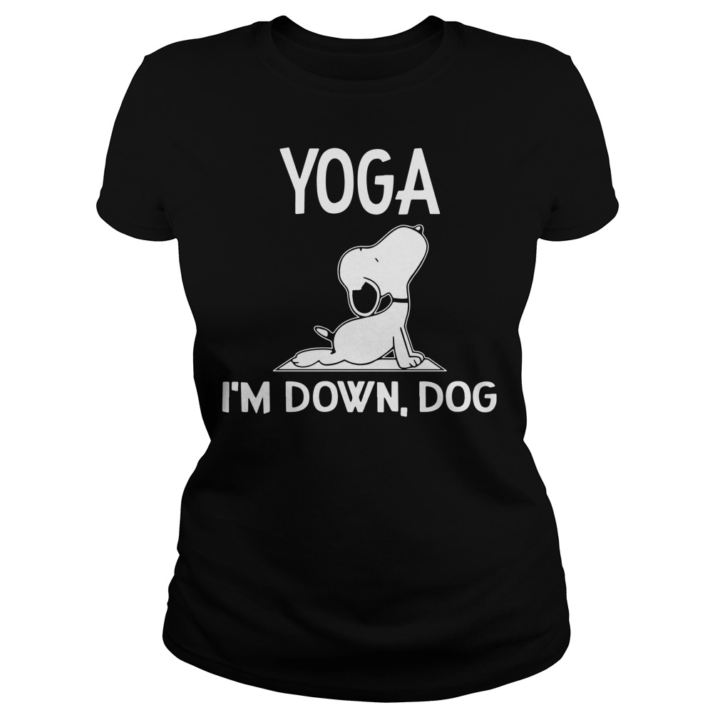 Snoopy – Yoga I'm down dog Ladies tee