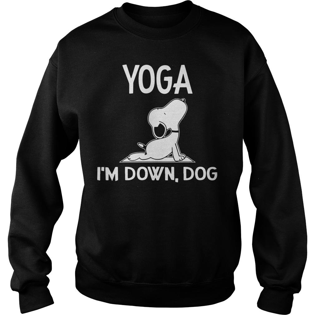 Snoopy – Yoga I'm down dog Sweater