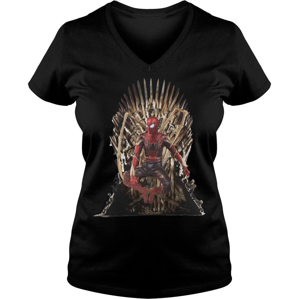 Spiderman Game of Thrones V-neck t-shirt