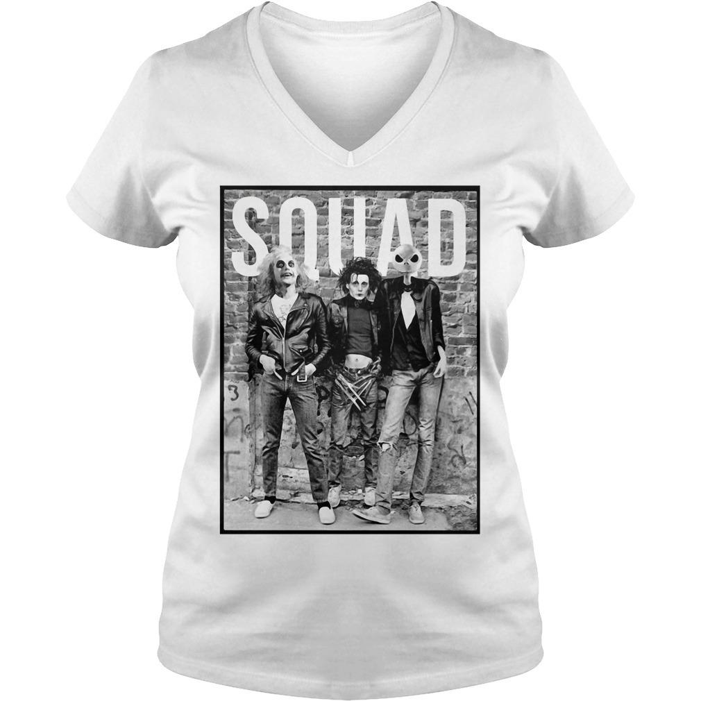 Squad Horror Halloween Movie V-neck T-shirt