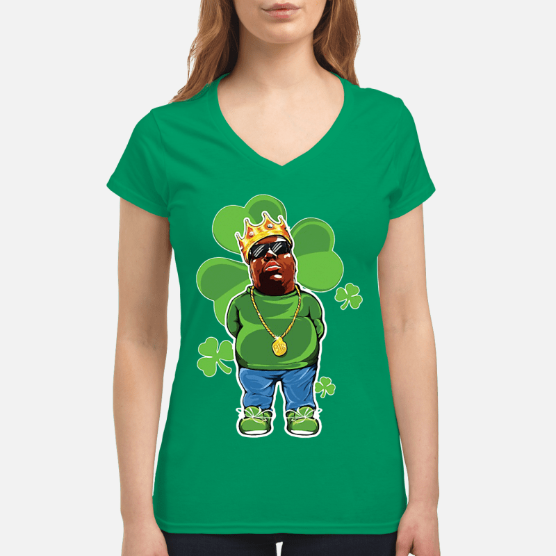 St Patrick Day The Notorious BIG V-neck t-shirt