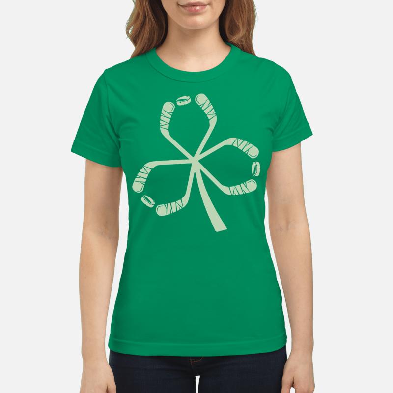 St Patrick's Day hockey Ladies tee