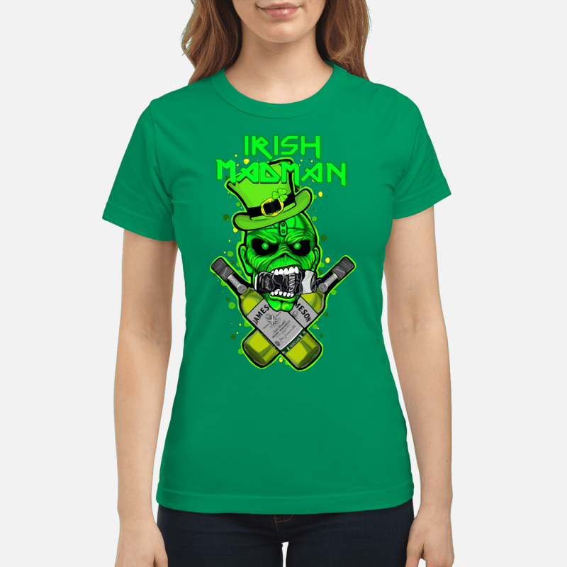 St Patrick's Day Irish Madman Jameson Ladies tee