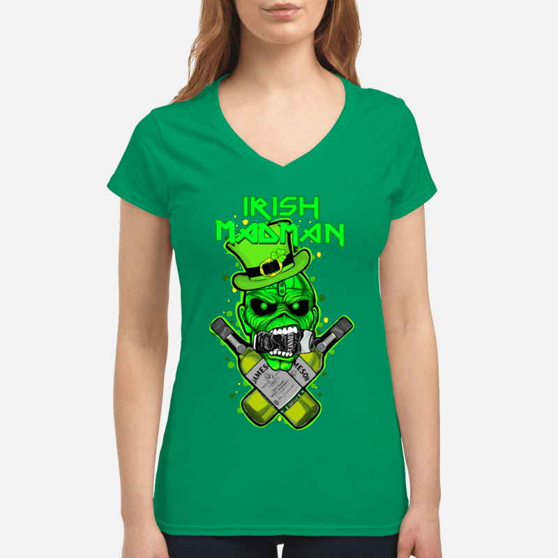 St Patrick's Day Irish Madman Jameson V-neck t-shirt