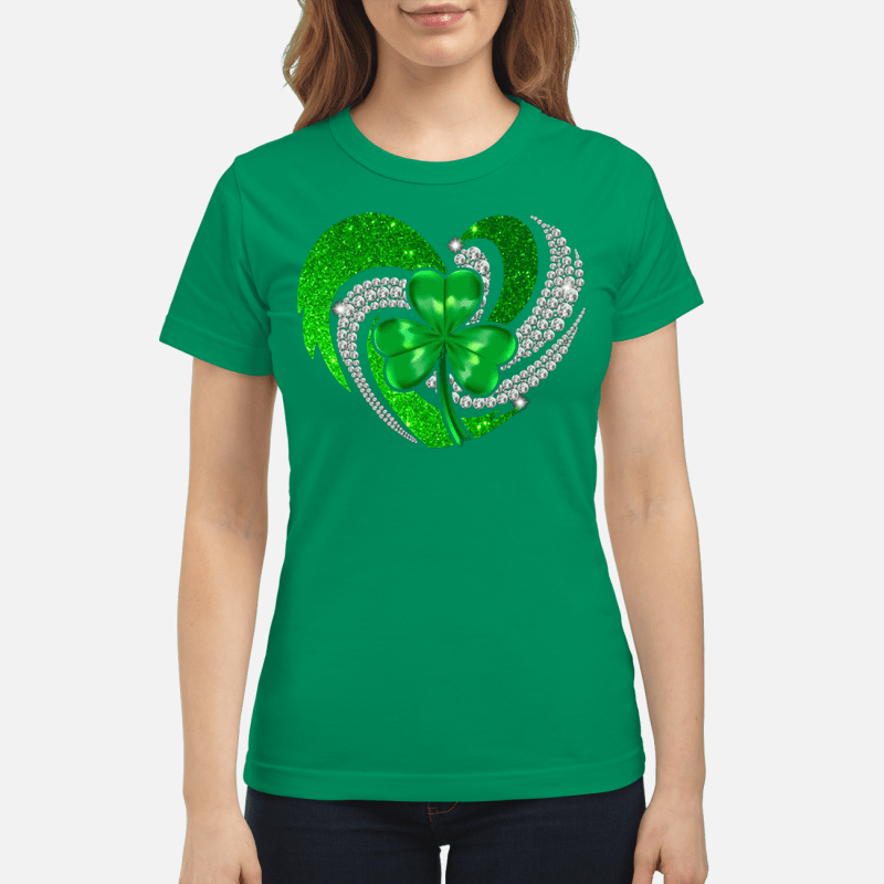 St Patrick's Day Shamrock Irish heart Ladies tee