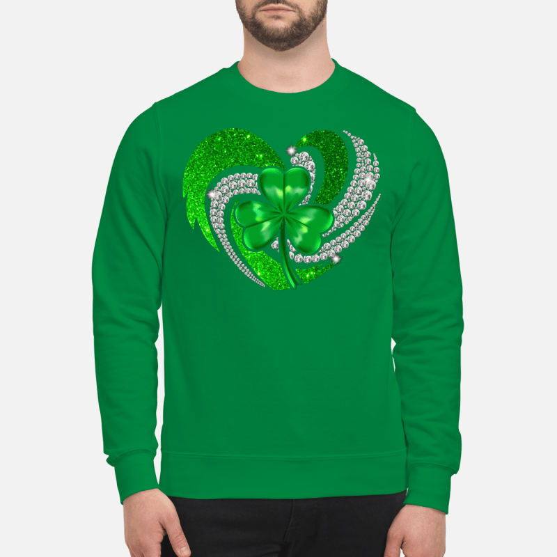 St Patrick's Day Shamrock Irish heart Sweater