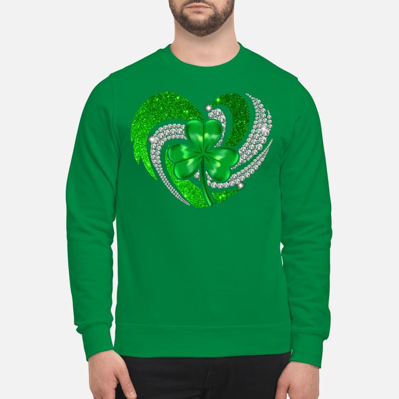 St Patrick's Day Shamrock Irish heart Sweater